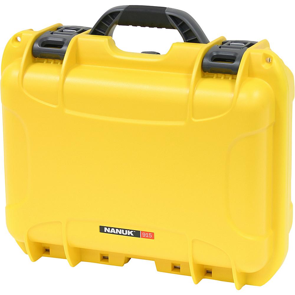 NANUK 915 Case w padded divider Yellow