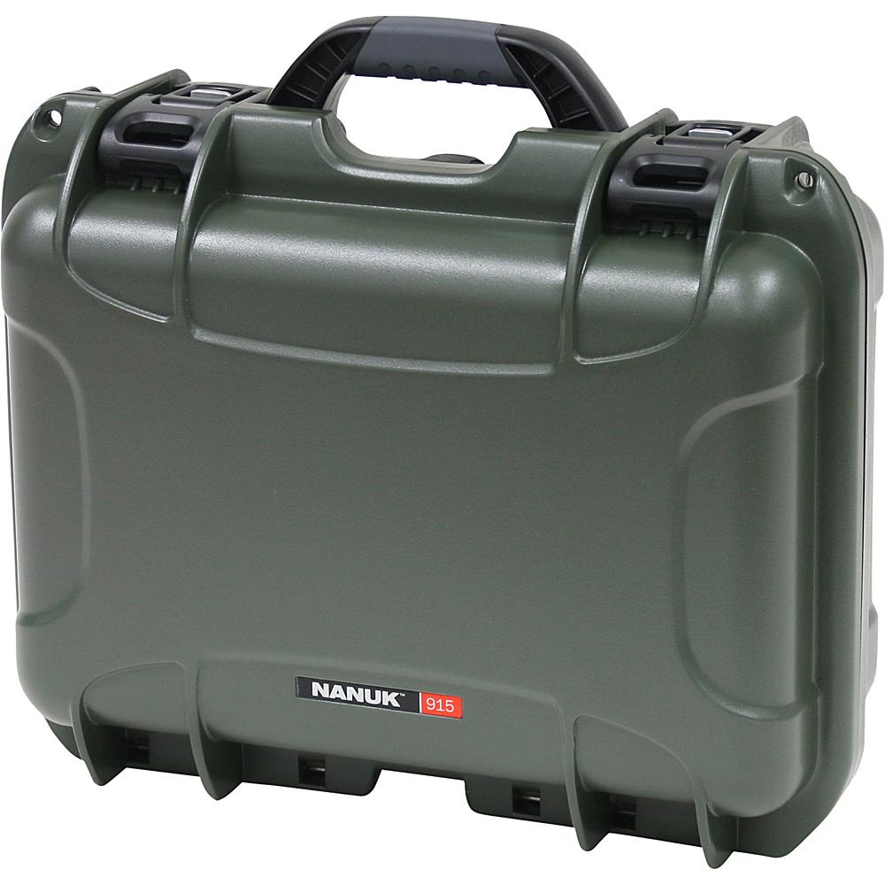 NANUK 915 Case w padded divider Olive