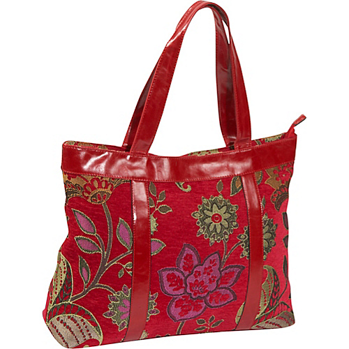 Mellow World Flossy Tapestry Tote Red - Mellow World Fabric Handbags