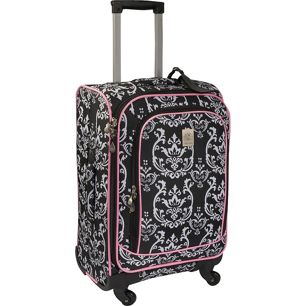 Jenni Chan Damask 21 Spinner - Black Pink - Luggage, Softside Carry-On