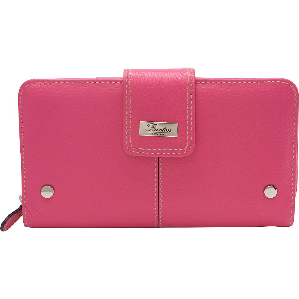 Buxton Westcott Zip Organizer Clutch Fuchsia Pink - Buxton Womens Wallets - Women's SLG, Women's Wallets