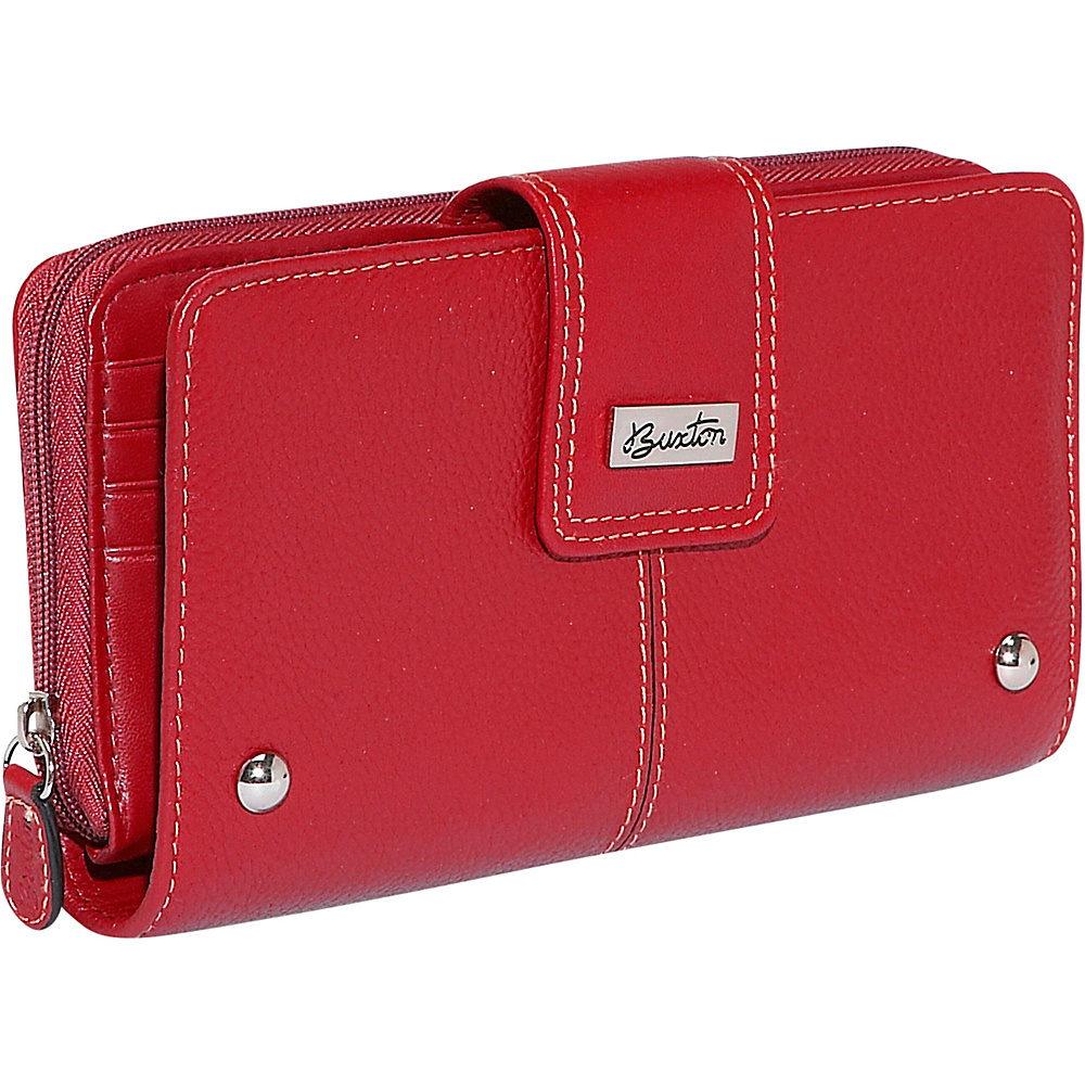 Buxton Westcott Zip Organizer Clutch - Red - Women's SLG, Women's Wallets