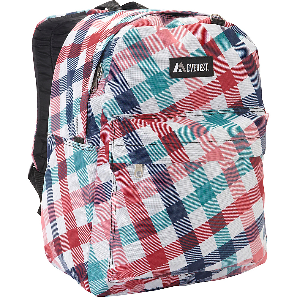 Everest Pattern Printed Backpack Red Blue Diamond - Everest Everyday Backpacks