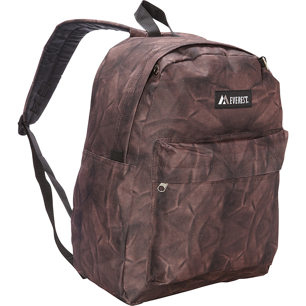 Everest Pattern Printed Backpack Brown Rock Everest Everyday Backpacks