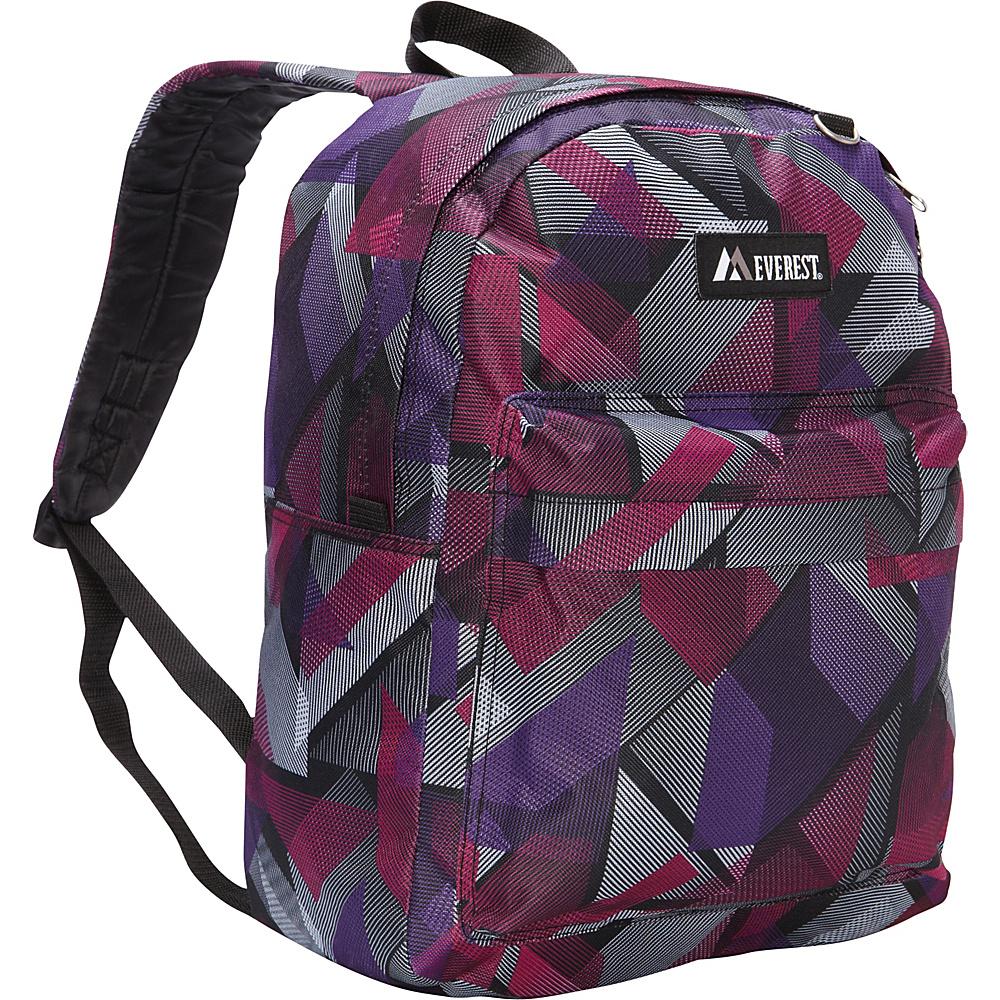 Everest Pattern Printed Backpack Purple/Pink Geometric - Everest Everyday Backpacks - Backpacks, Everyday Backpacks