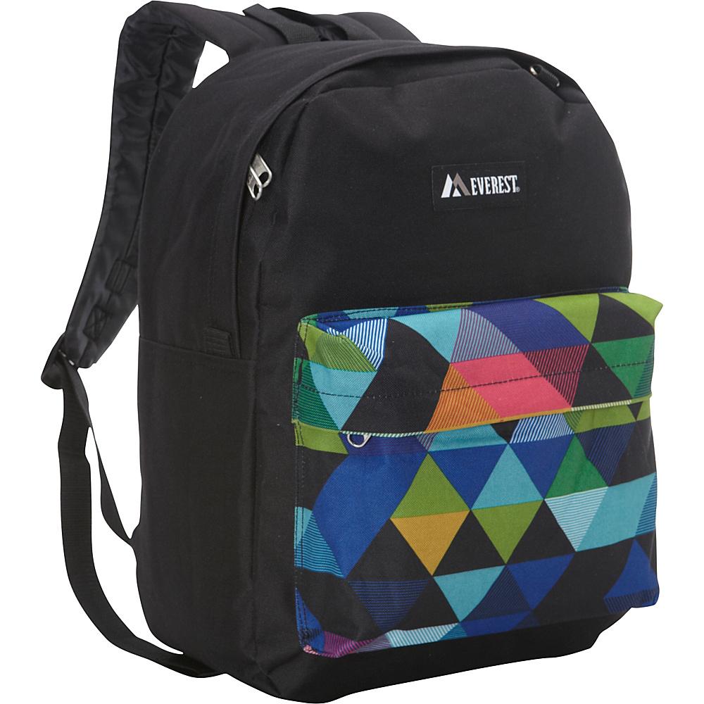 Everest Pattern Printed Backpack Black Prism Everest Everyday Backpacks
