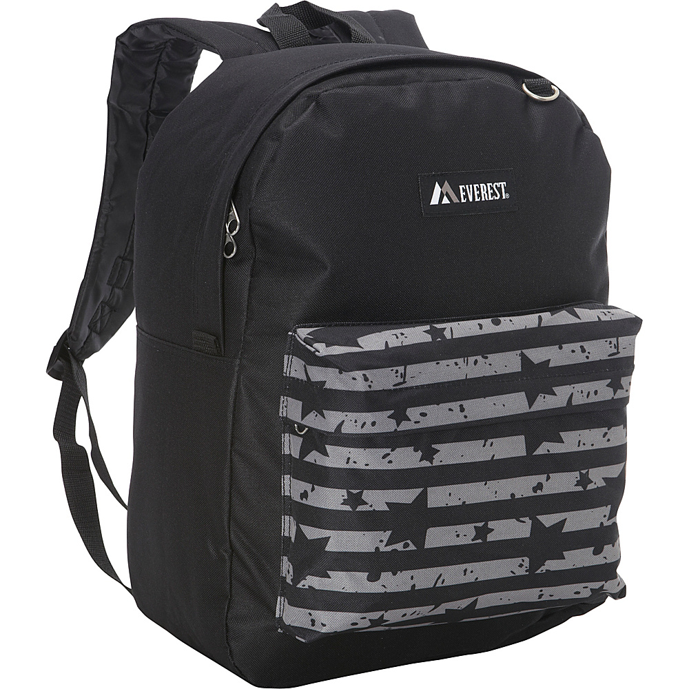 Everest Pattern Printed Backpack Black Star Stripe Everest Everyday Backpacks