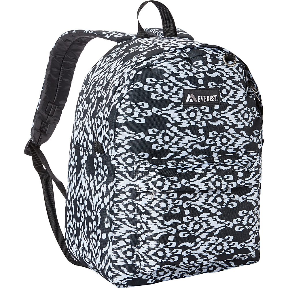 Everest Pattern Printed Backpack Black/White Ikat - Everest Everyday Backpacks - Backpacks, Everyday Backpacks
