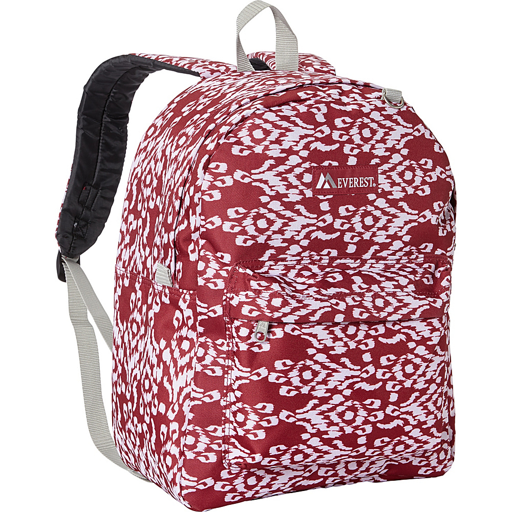 Everest Pattern Printed Backpack Burgundy/White Ikat - Everest Everyday Backpacks - Backpacks, Everyday Backpacks