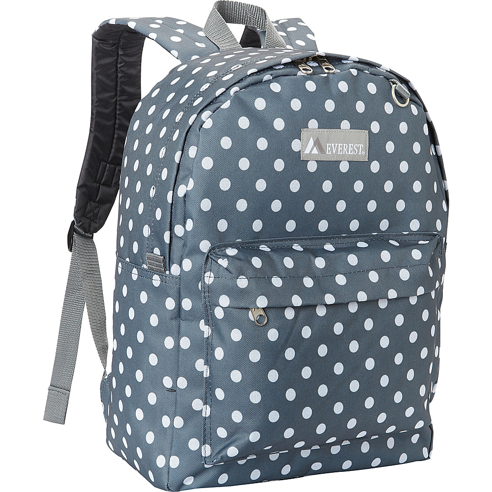 Everest Pattern Printed Backpack Gray/White Dot - Everest Everyday Backpacks - Backpacks, Everyday Backpacks