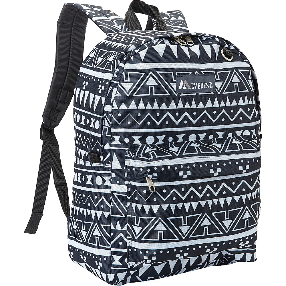 Everest Pattern Printed Backpack Navy/White Ethnic - Everest Everyday Backpacks - Backpacks, Everyday Backpacks