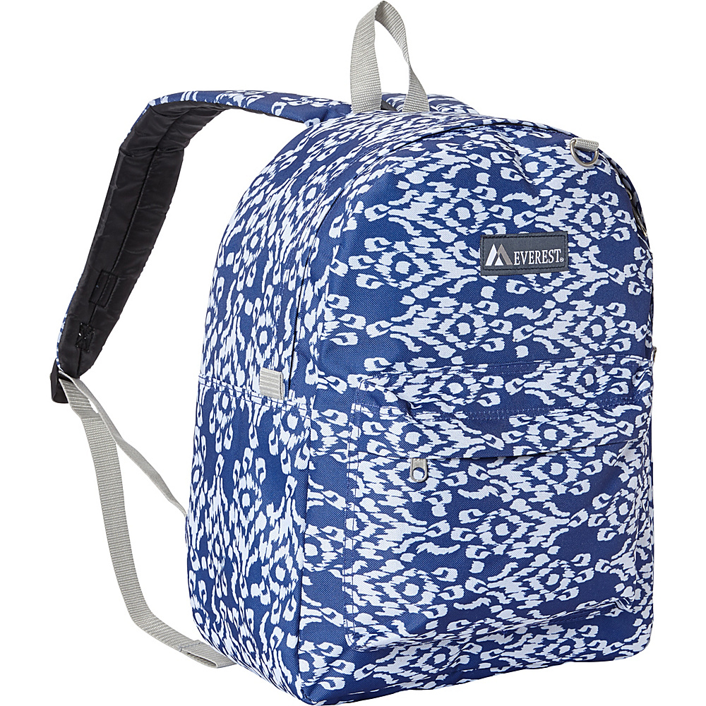Everest Pattern Printed Backpack Navy/White Ikat - Everest Everyday Backpacks - Backpacks, Everyday Backpacks