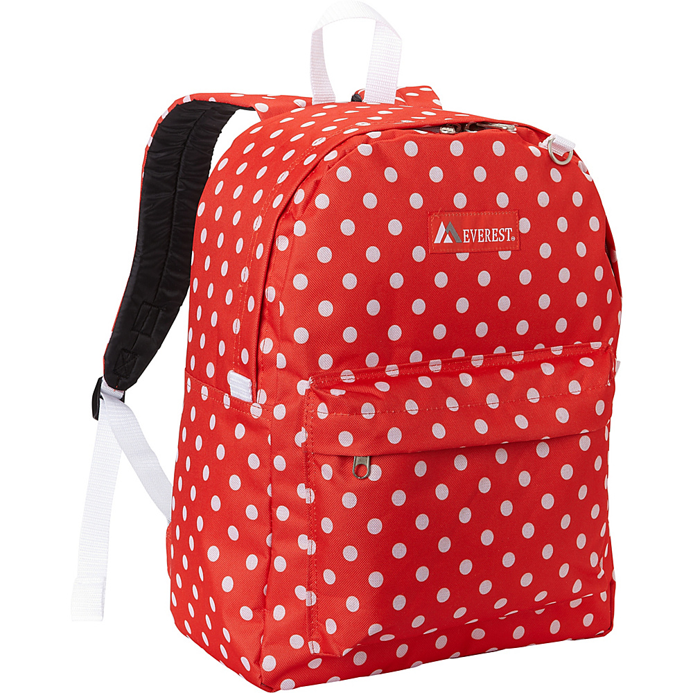 Everest Pattern Printed Backpack Tangerine/White Dot - Everest Everyday Backpacks - Backpacks, Everyday Backpacks