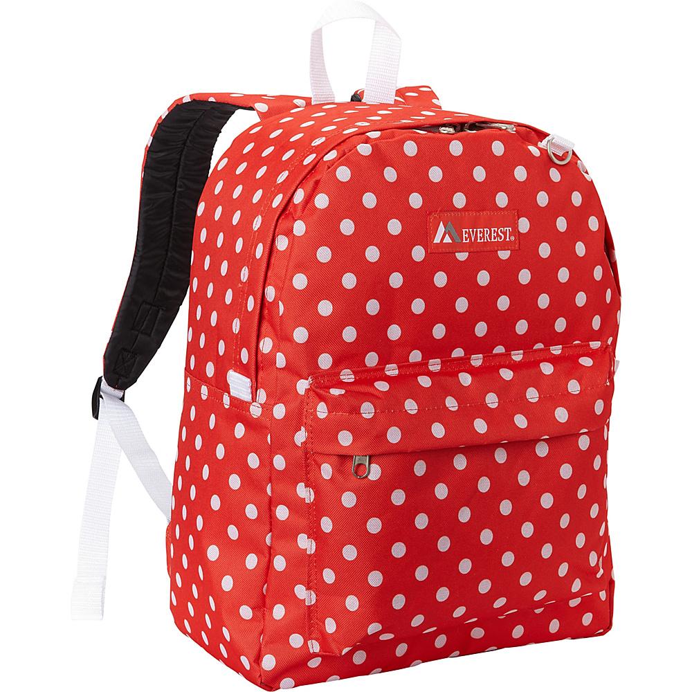 Everest Pattern Printed Backpack Tangerine/White Dot - Everest Everyday Backpacks - Backpacks, Everyday Backpacks