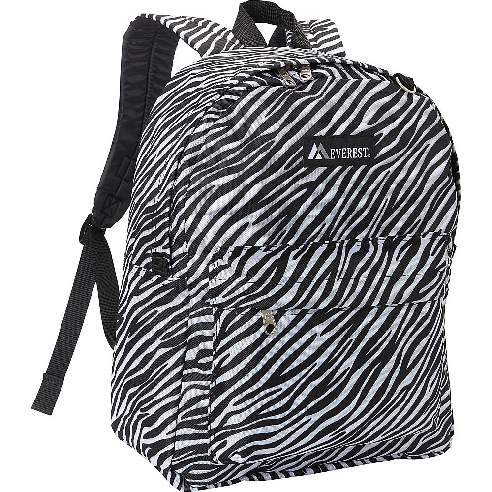 Everest Pattern Printed Backpack Zebra - Everest Everyday Backpacks - Backpacks, Everyday Backpacks