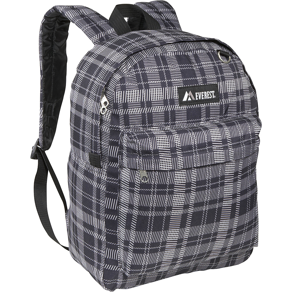 Everest Pattern Printed Backpack Black Gray Square - Everest Everyday Backpacks - Backpacks, Everyday Backpacks