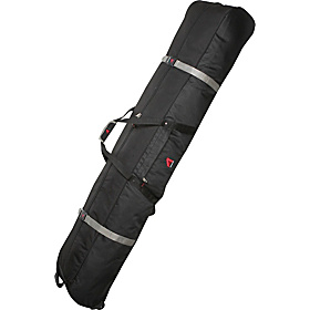 Multi Use Wheeling Ski/Snowboard Bag Padded - 185cm Black