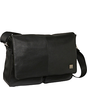 Kobe Soft Leather Laptop Messenger Black