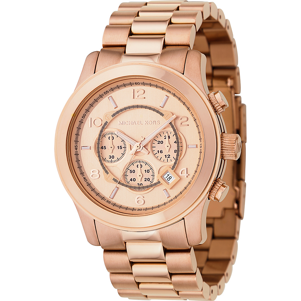Michael Kors Watches Men's Rose Gold Oversize Runway -