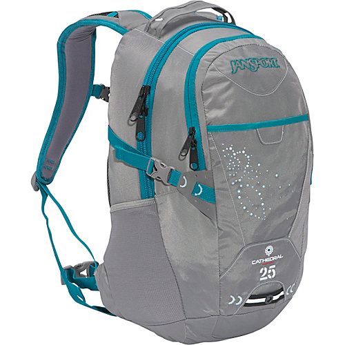 JanSport Womens Cathedral - New Storm Grey/Barnacle - Backpacks, School & Day Hiking Backpacks
