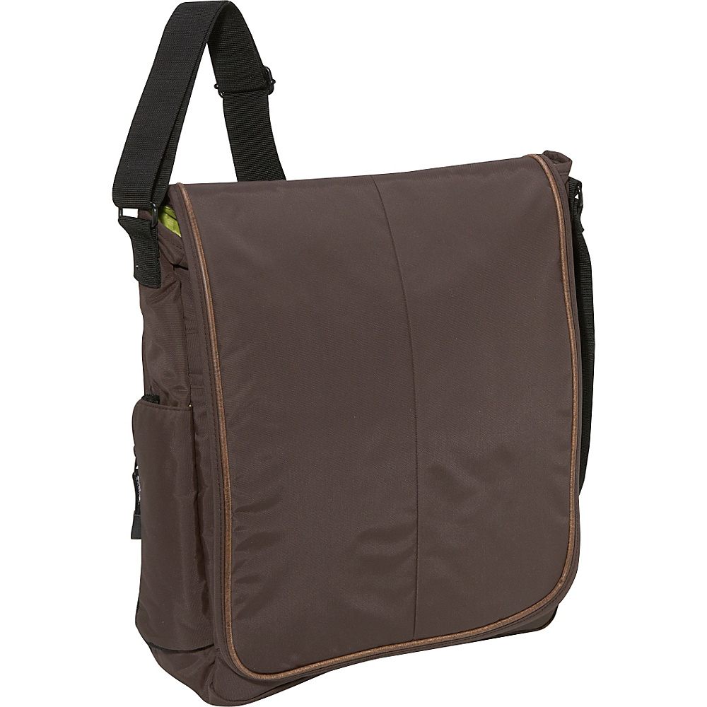 Derek Alexander Full Flap Messenger Bag - Brown - Work Bags & Briefcases, Messenger Bags
