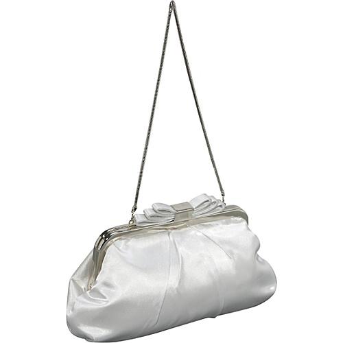 Coloriffics Handbags Satin Handbag Topped w/Bow - Clutch
