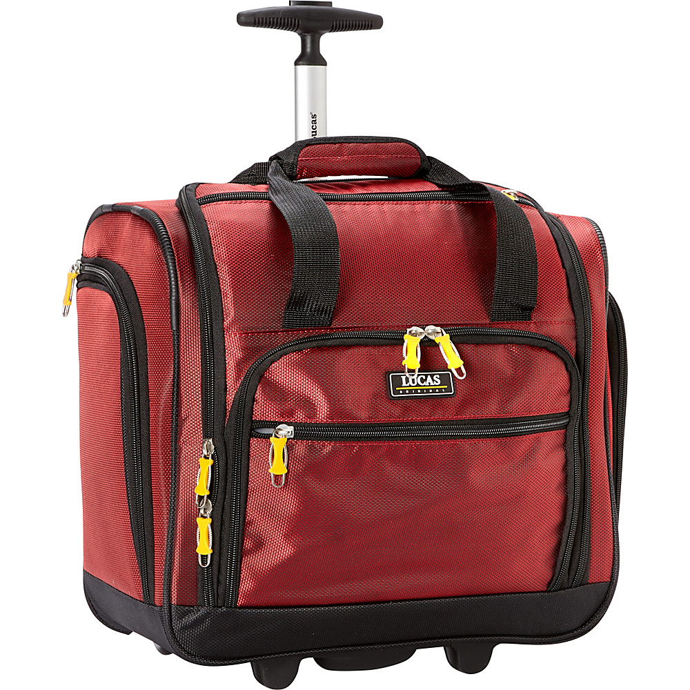 LUCAS Wheeled Under the Seat Luggage Cabin Bag EXCLUSIVE Red