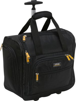 LUCAS Wheeled Under the Seat Luggage Cabin Bag EXCLUSIVE Black