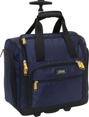 LUCAS Wheeled Under the Seat Luggage Cabin Bag EXCLUSIVE Blue