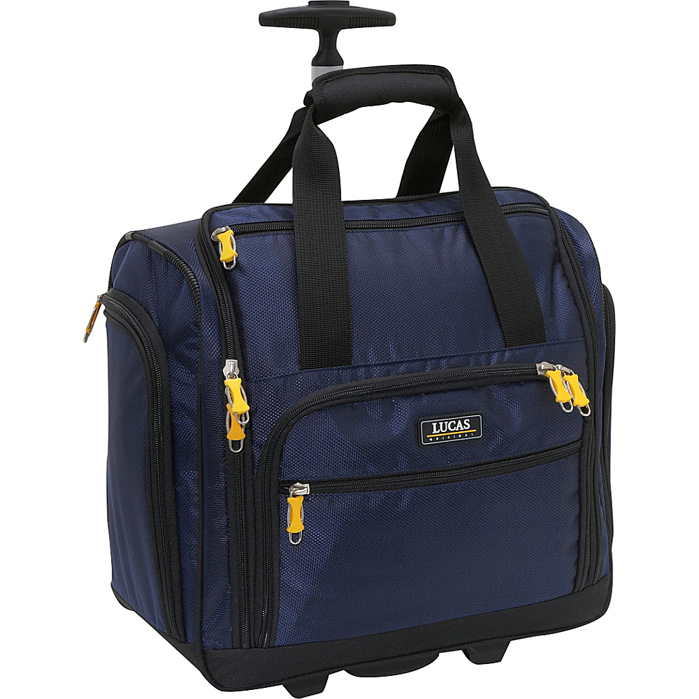 LUCAS Wheeled Under the Seat Luggage Cabin Bag EXCLUSIVE Blue - Luggage, Softside Carry-On