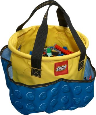 LEGO Big Toy Bucket - Blue Knob Print