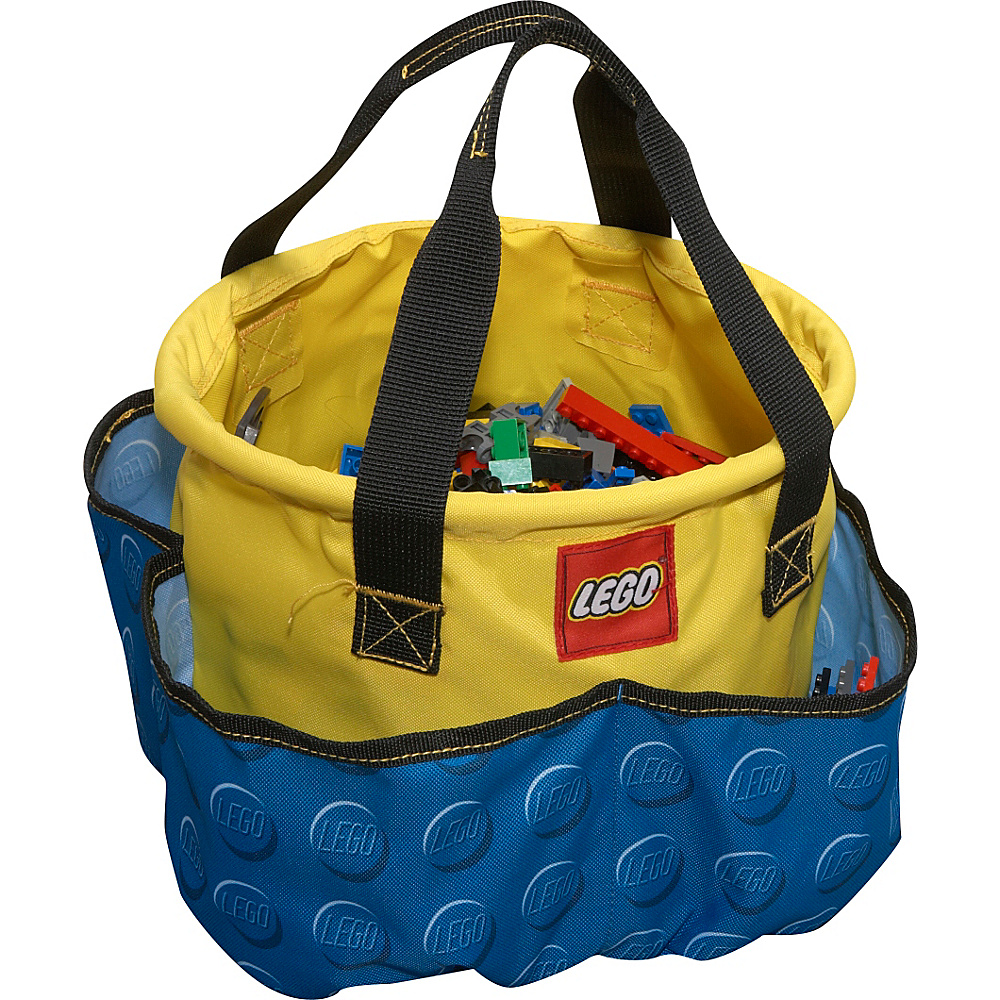 LEGO Big Toy Bucket Blue Knob Print