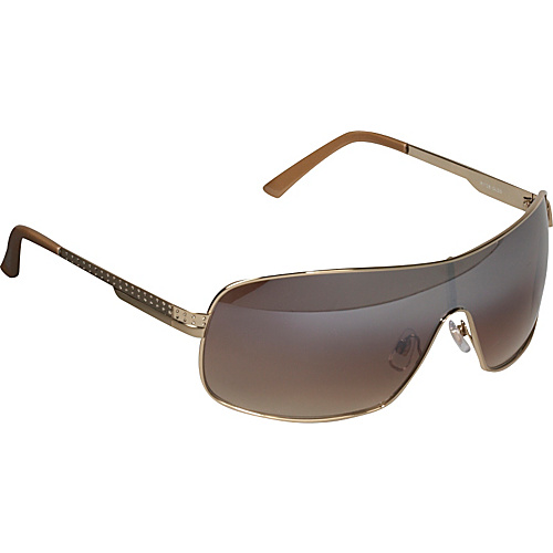 Rocawear Sunwear Shield Sunglasses - Shiny Gold