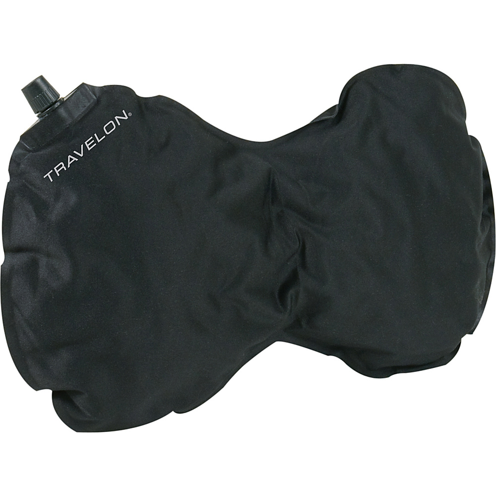 Travelon Self Inflating Neck and Back Pillow - Black - Travel Accessories, Travel Pillows & Blankets