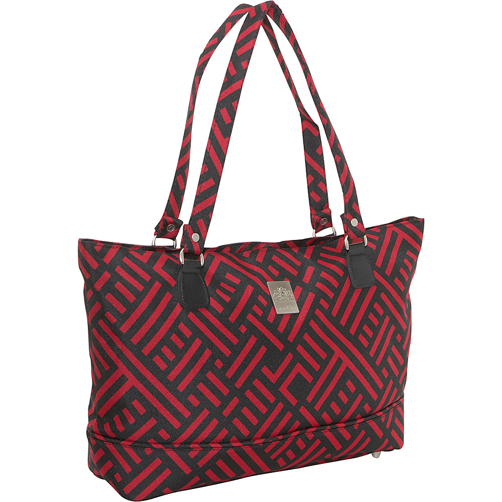 Jenni Chan Signature Laptop Computer Work Tote Black and Red Jenni Chan Women s Business Bags