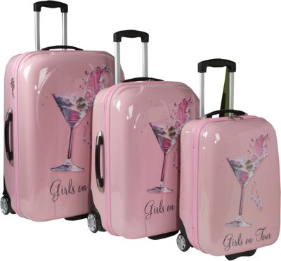 Picture Case Girls On Tour 3 Piece Hardside Luggage Set - eBags.com
