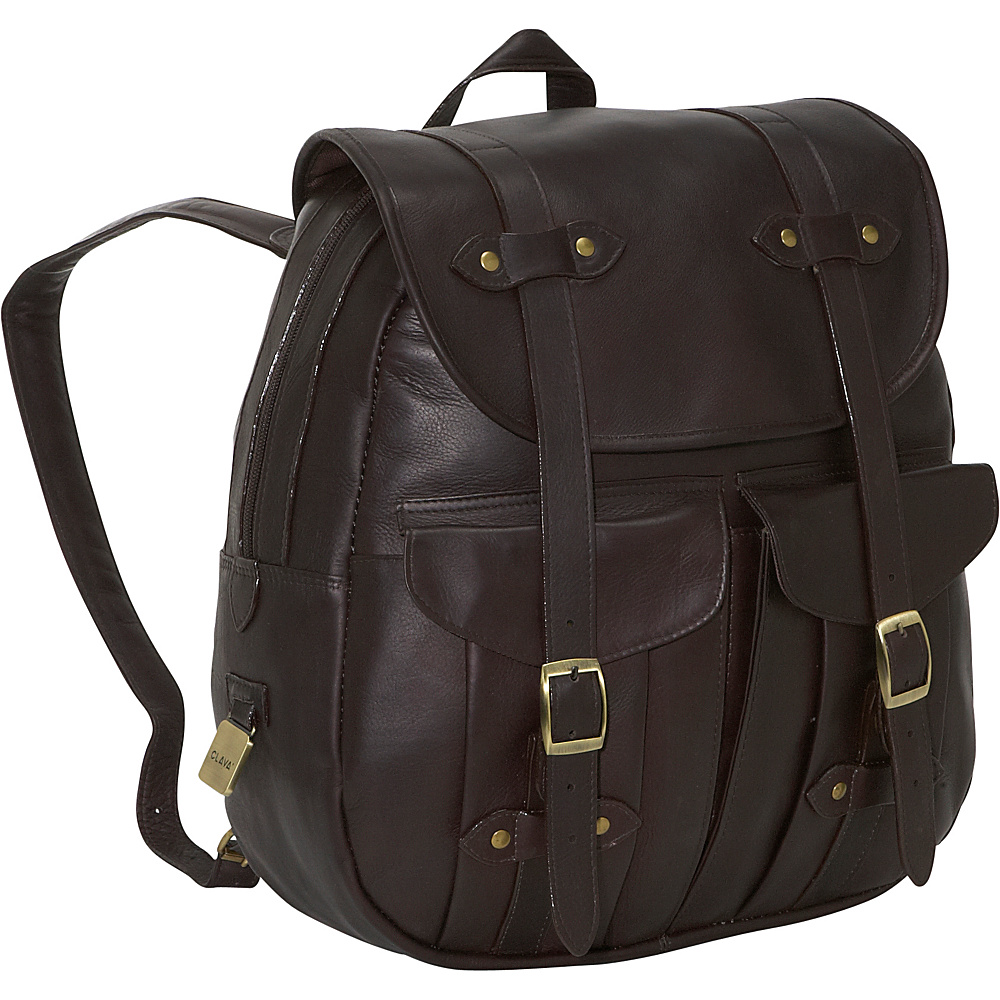 Clava Leather Rucksack Backpack - Vachetta Cafe - Backpacks, Everyday Backpacks