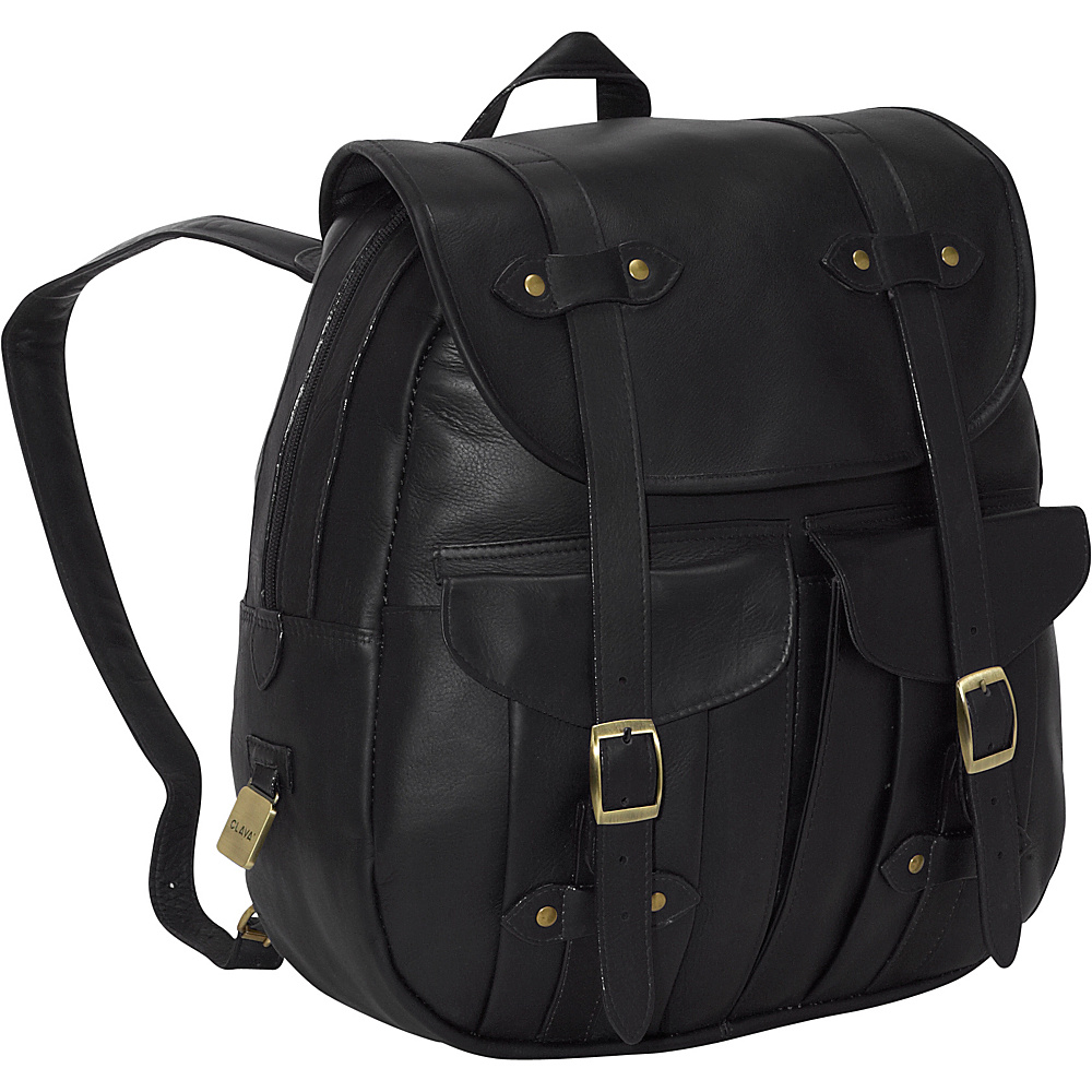 Clava Leather Rucksack Backpack - Vachetta Black - Backpacks, Everyday Backpacks