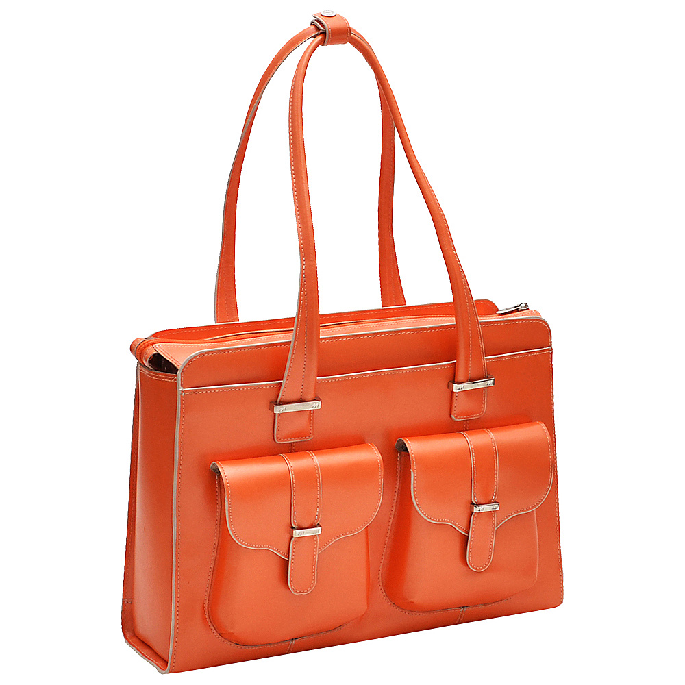 McKlein USA Alexis 14  Ladies Laptop Case Orange - McKlein USA Womens Business Bags - Work Bags & Briefcases, Women's Business Bags