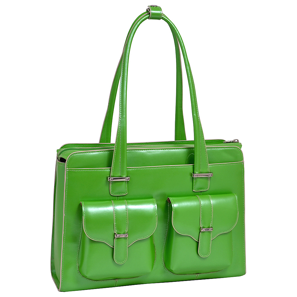 McKlein USA Alexis 14  Ladies Laptop Case Green - McKlein USA Womens Business Bags - Work Bags & Briefcases, Women's Business Bags