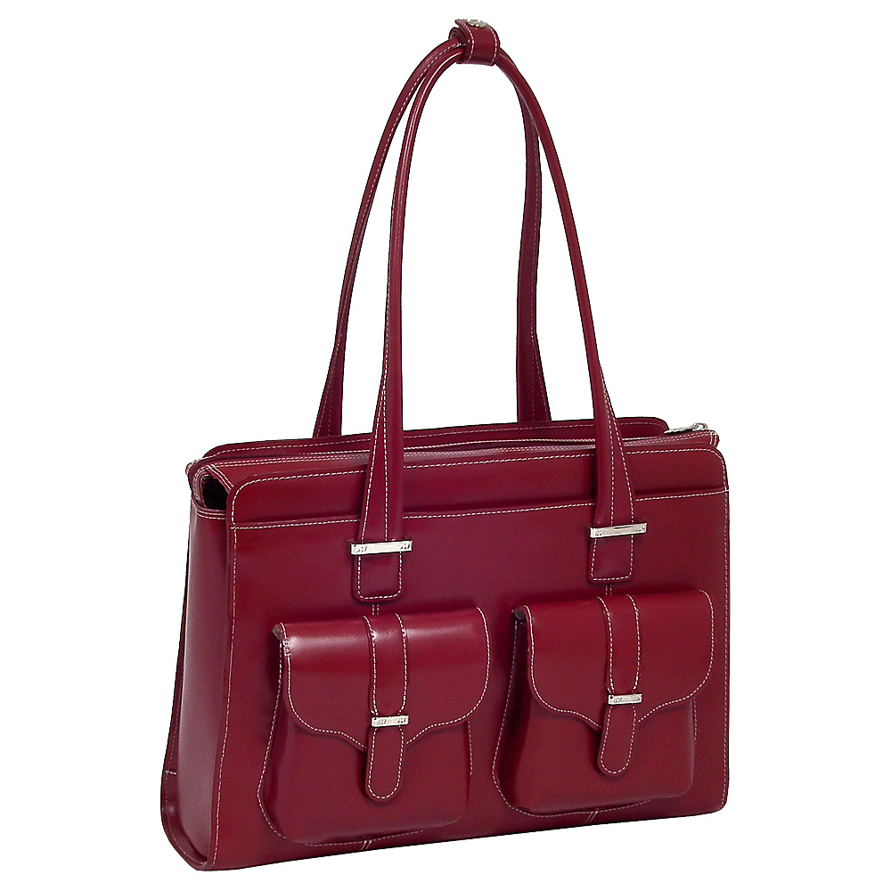 McKlein USA Alexis 14  Ladies Laptop Case Red - McKlein USA Womens Business Bags - Work Bags & Briefcases, Women's Business Bags