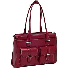 Alexis - Fly-Through Checkpoint-Friendly Ladies' Laptop Case Red
