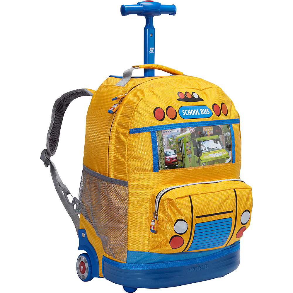 School bag new york - J World New York School Bus Kids Rolling Backpack Kids Ages 4 8