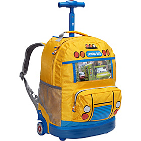 School Bus Kids Rolling Backpack (Kids ages 4-8) School Bus