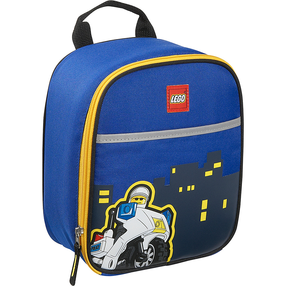 LEGO Police City Nights Vertical Lunch Bag Blue