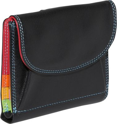 BelArno Large French Multi Color Wallet in Black