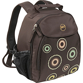 Kaleidoscope Camera Backpack Kaleidoscope Pattern Brown