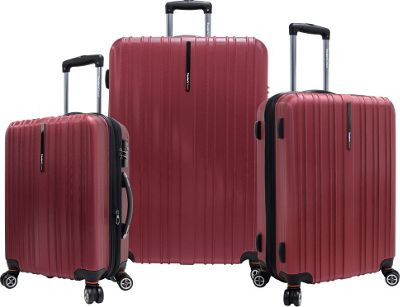 Traveler's Choice Tasmania 3-Piece Exp Hardside Spinner Set Red - Traveler's Choice Hardside Luggage