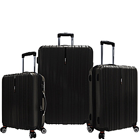 Tasmania 3-Piece Exp Hardside Spinner Set Black