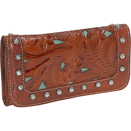 American West Everyday Cowgirl Wallet - Antique Brown